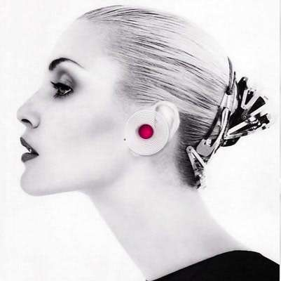 Spiral Earring Phones - The Fashionable Volution Bluetooth Headset for Ladies