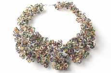 Garbage Necklaces - Recycled Jewelry by Indregru Converts Trash to Treasures