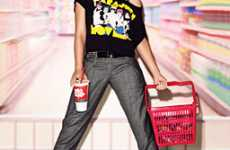 Rock Stars in Supermarkets - Gwen Stefani's Grocery Shopping Editorial Makes Chores Glamorous