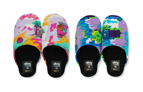 Graffiti Slippers - Stussy and Gallery 1950 Make Home Shoes Hot