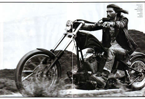 Jesus Hair Editorials - Patrick Petitjean is 'On the Road' in Vogue Homme