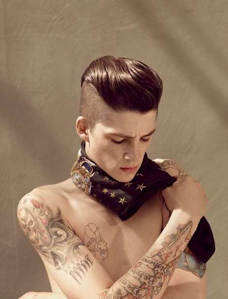 Half-Shaved Pompadours - Ash Stymest Blends 80s Punk & 50s Greaser for System Campaign