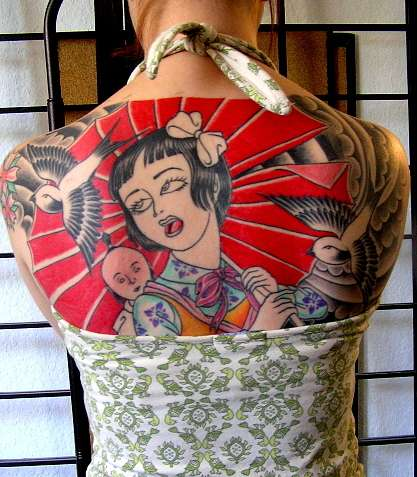 Manga Tattoos - Japanese Cartoon Ink, from Super Heroes to Cute Anime Faces