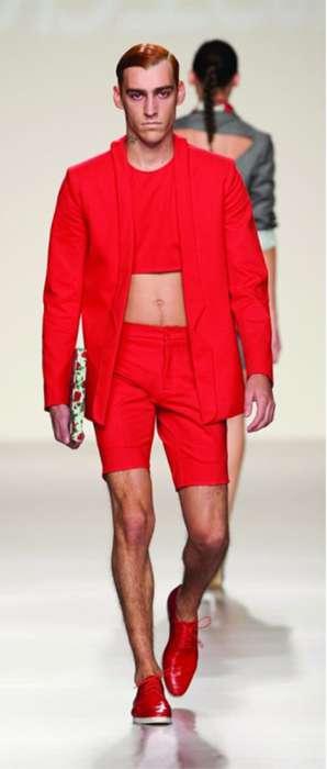 Crop Tops & Suit Shorts