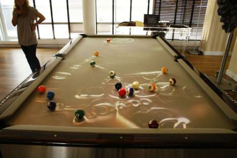 Light Sensor Pool Tables - The Obscura CueLight Brightens Up Billiard Ball Fun