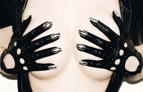 Metal Fingernail Gloves