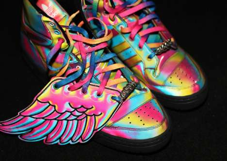 Multihued Winged Sneakers - Jeremy Scott Does Technicolor Athletic Gear for Adidas
