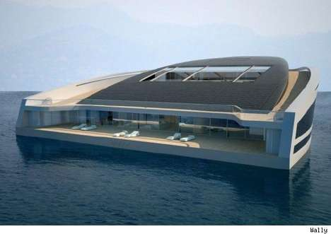 Floating Island Boats - Wally and Hermes Yacht WHY 58x38 is More Island Than Yacht