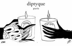 Parisian Illustrator Votives - The Kuntzel-Deygas Diptyque Candles Are an Exclusive Sell and Smell