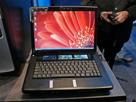 Four-Screened Laptops - The Intel 'Tangent Bay' Lets You Multitask Twice as Well
