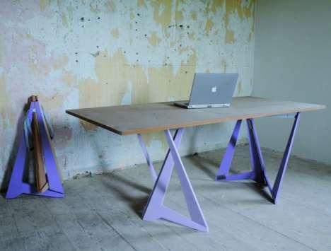 Folding Sawhorse Tables