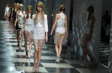 Crystallized Runway Fashions - The Prada Spring RTW Collection is Inspired by Chandeliers