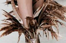 Feathered Footwear - Nicholas Kirkwood Debuts His Spring Shoes at Roksanda Ilincic