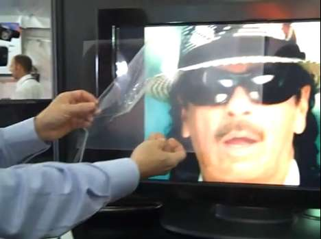 Invisible Speaker Screens