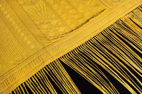 Arachnid-Spun Apparel - One Million Spiders Made the Golden Silk for RareTextile
