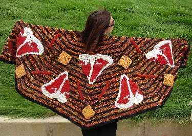 Monster Crochet Helps You Make a Meat Lover Shawl