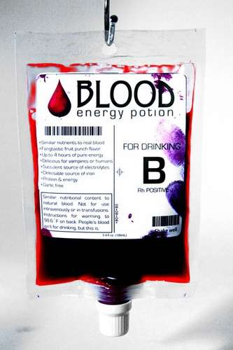 Synthetic Blood Beverages