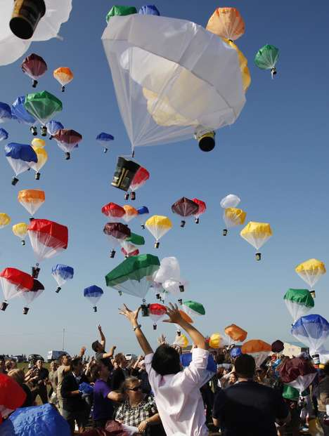 Parachuting Publicity Stunts