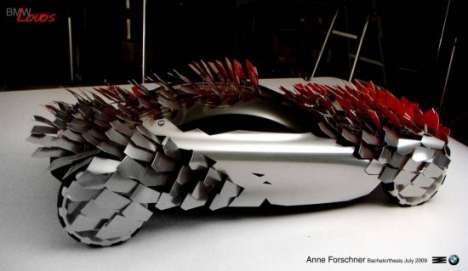 Spikey Supercars - BMW Lovos Concept is Sharp in Both Image and Texture