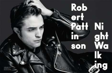 Hair Playing Shoots - Robert Pattinson in AnOther Man by Hedi Slimane