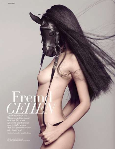 Racy Animal Fashion - Sexy Horeses & Frogs in Tush Magazine
