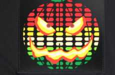 Halloween Shirt Equalizers - LED Sound-Activated Pumpkin T-Shirt is Musically Fun