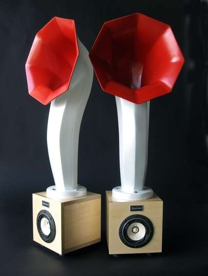 Phonograph Speakers - The Awesome Retro Little Horn Speakers Come Back From the Past