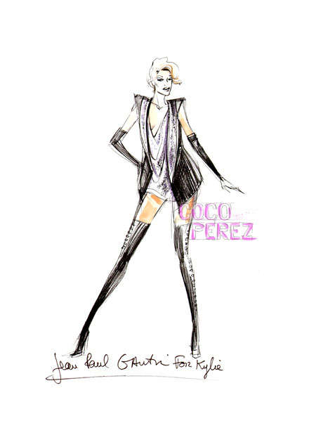 Sketched Couture Costumes