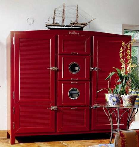 Antique-Modern Fridges - Luxury Italian Meneghini Refrigerator Adds Cool Flair to Your Kitchen