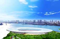 Futuristic Frisbee Stadiums - Tokyo 2016 Olympic Stadium Design is Architectural Masterpiece
