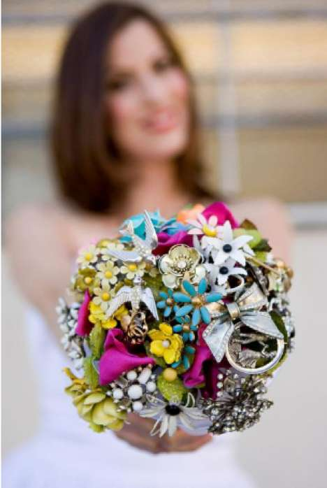 Brooch Bouquets - Fantasy Floral Designs Creates Vintage-Loving Alternative for Brides