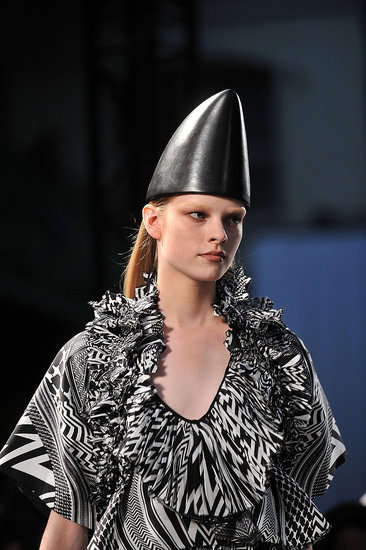 Cone-Head Couture - The Givenchy Spring Collection Features Dunce Hats