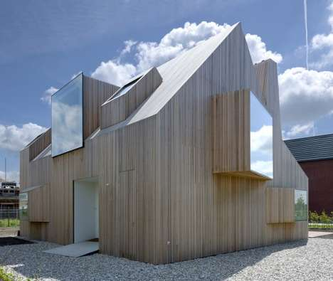 Sculptural Windowed Homes