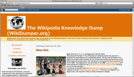 The Wikidumper Blog Makes Crappy Writing Fun