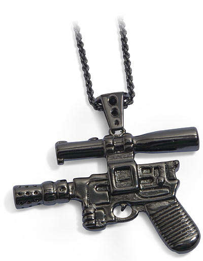 The Hans Solo Blaster Pendant Will Keep the Empire off Your Back