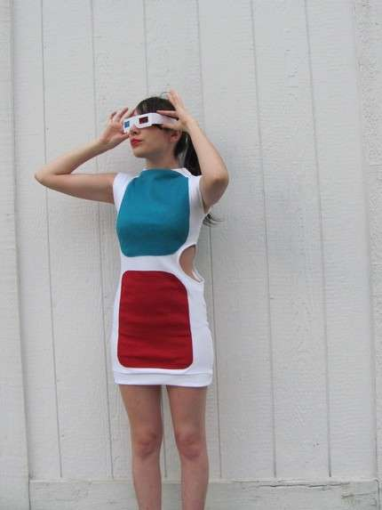 Sexy Geek-Chic Apparel - Eye-popping Cinema-Inspired 3D Glasses Dress