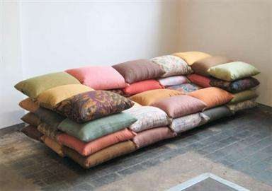 Piled Pillow Seating - The Comfortable Cushionized Sofa by Christiane Hoegner