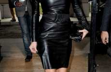 Slick Rockstar Dresses - The Kate Moss Leather Look at Miu Miu During Paris Fashion Week