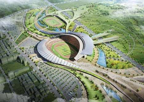 Incheon Stadium Design for 2014 Asian Games by Populous