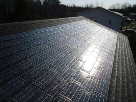 Sleek Solar Shingle Power