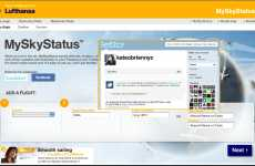 Twittering Airplanes - Lufthansa MySkyStatus Lets Passengers Auto-Tweet Their Current Position In-Fl