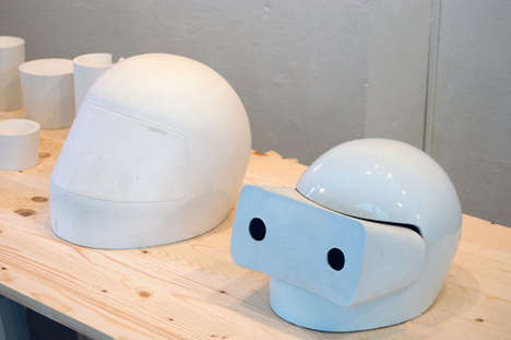 Bug-Eyed Biker Helmets