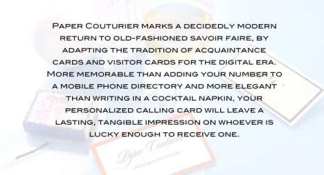 18th Century Calling Cards