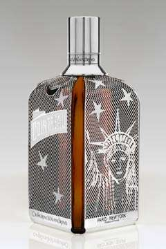 Patriotic Liquor Bottles - The Catherine Malandrino Cointreau Bottle is All-American
