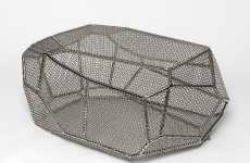 Chain Link Coffee Tables - Arik Levy's Rock Grid Table is Anything but Homey