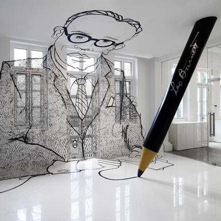 Giant Wall Portraits - Ministry of Design Incorporates Enormous Company Founder Picture in Remodel