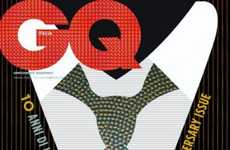 Cartoony Mag Covers - GQ Italy Celebrates Tenth Anniversary with Ten Covers