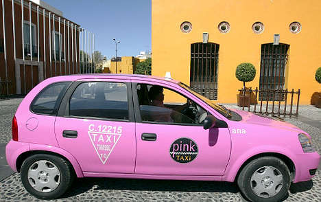 Pink Cabs for Safety