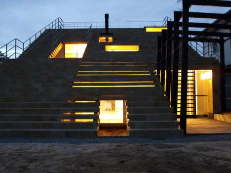 The Japanese Beach-Side Stairs House by Y + M Design Office