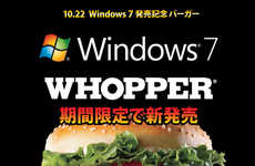 Seven-Patty Burgers - Japanese Burger King Offers Gigantic Windows 7 Whoppers